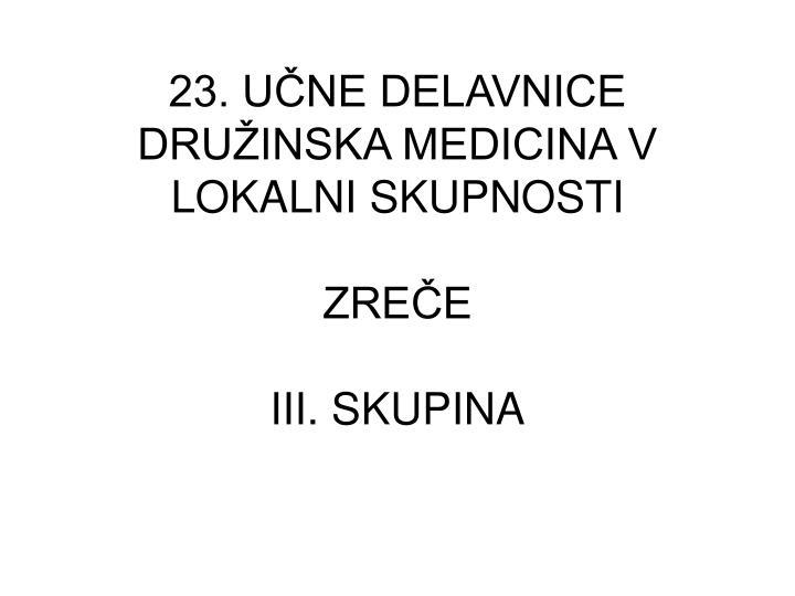 23. UČNE DELAVNICE