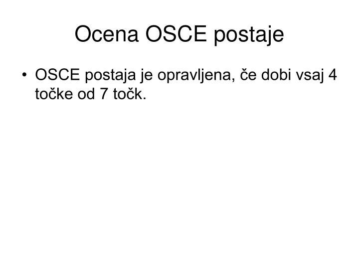 Ocena OSCE postaje