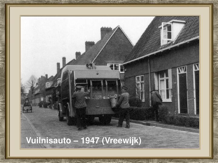 Vuilnisauto – 1947 (Vreewijk)