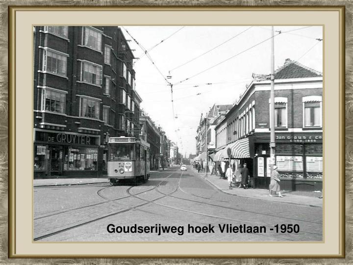 Goudserijweg hoek Vlietlaan -1950