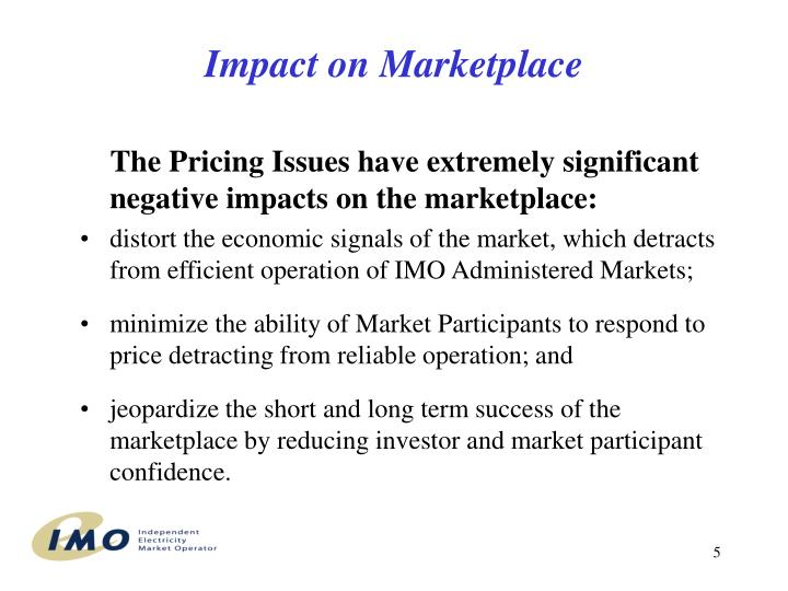 Impact on Marketplace