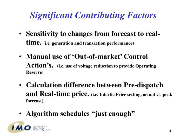 Significant Contributing Factors