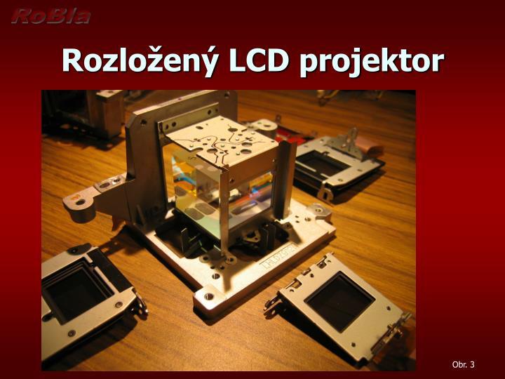 Rozložený LCD projektor