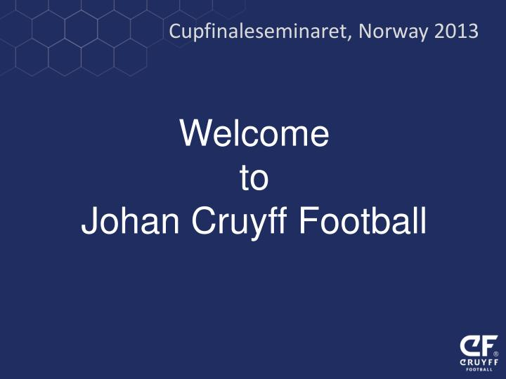 Cupfinaleseminaret, Norway 2013