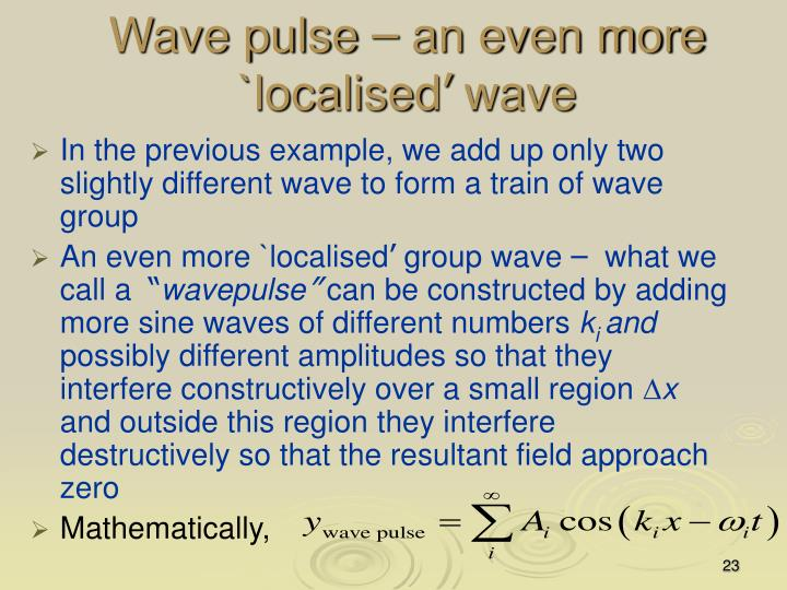 Wave pulse