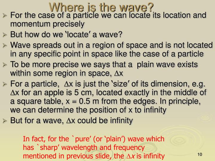 Where is the wave?
