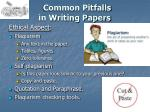 common pitfalls in writing papers