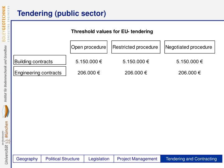 Tendering (public sector)
