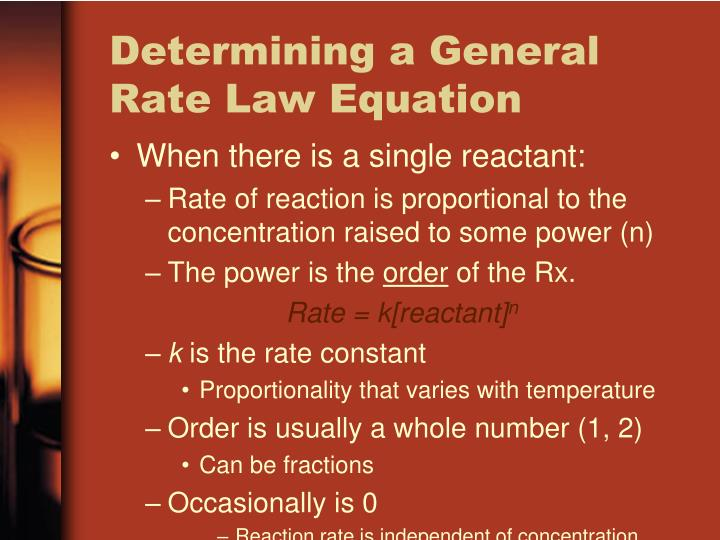 Determining a General Rate Law Equation