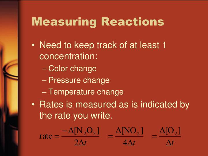 Measuring Reactions