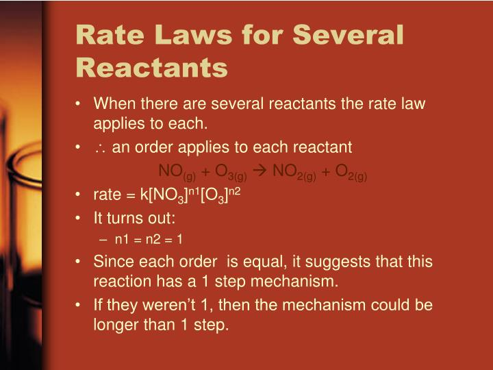 Rate Laws for Several Reactants
