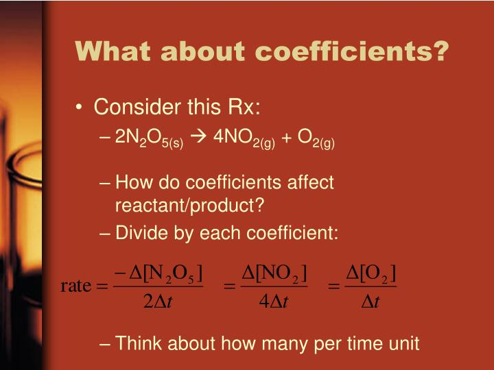What about coefficients?
