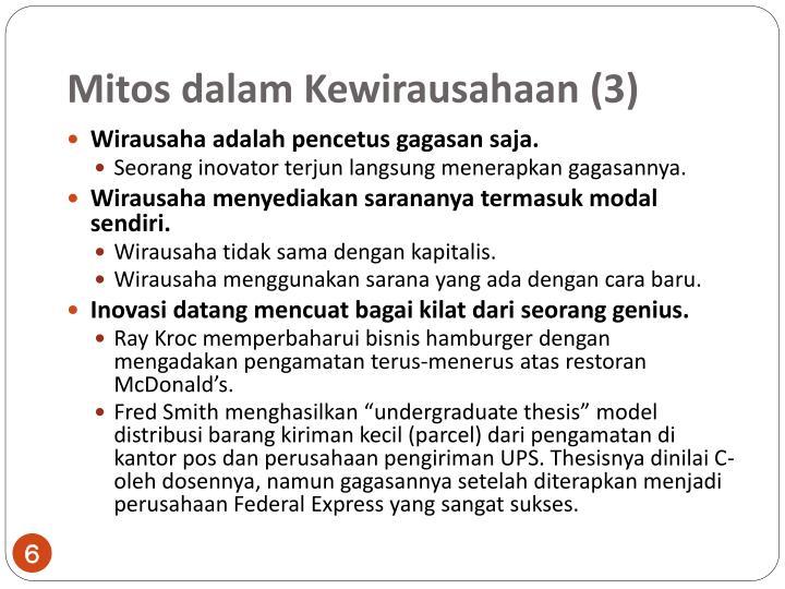 Mitos dalam Kewirausahaan
