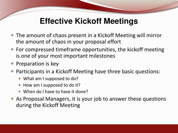 Effective Kickoff Meetings
