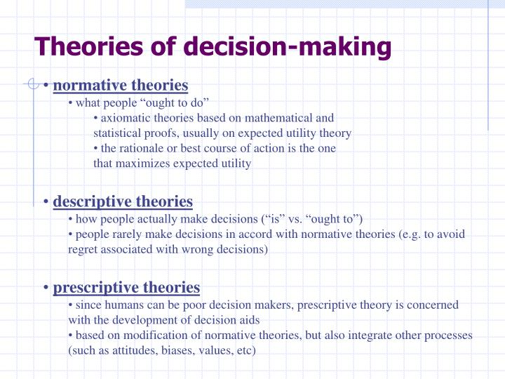 Theories of decision-making