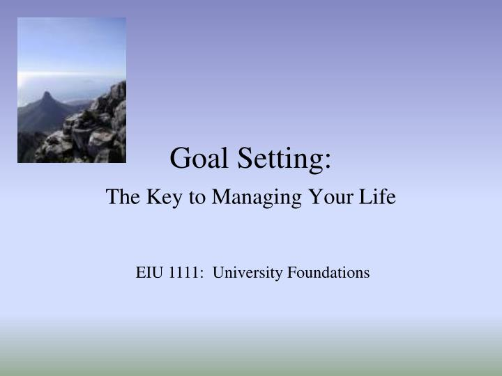 Goal Setting: