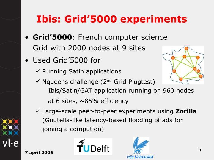 Ibis: Grid'5000 experiments