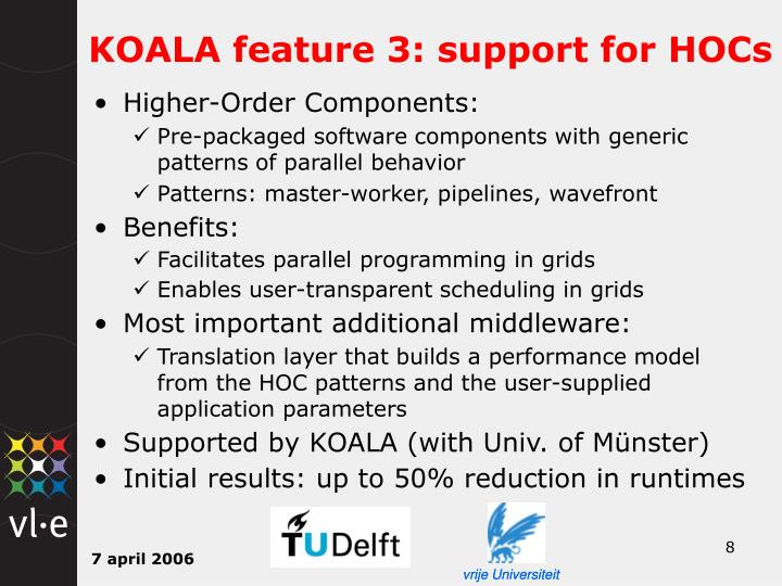 KOALA feature 3: support for HOCs