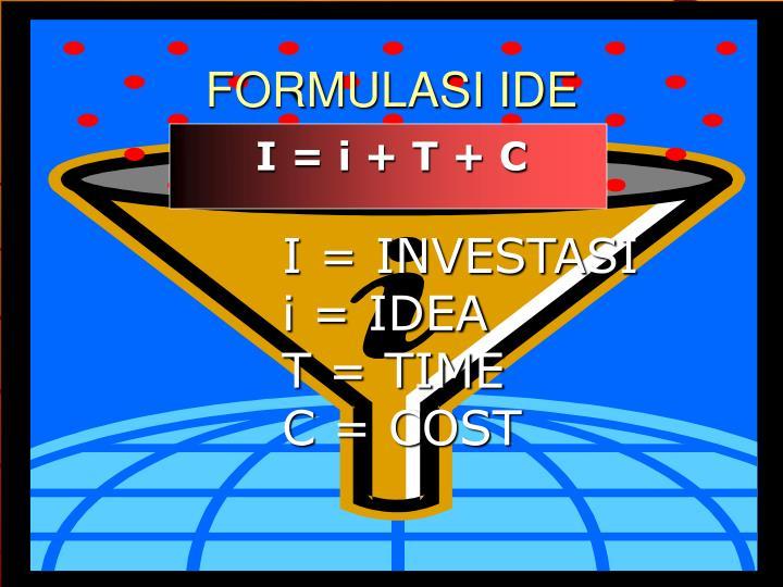 FORMULASI IDE