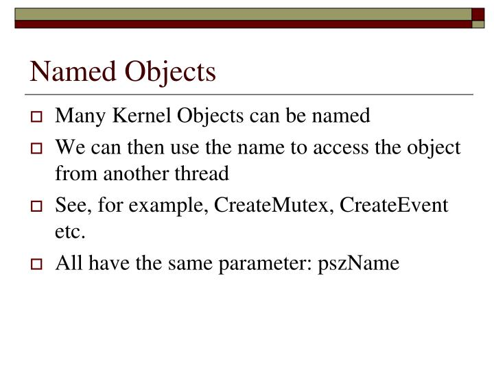 Named Objects