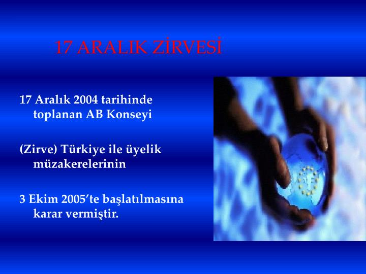 17 ARALIK ZİRVESİ