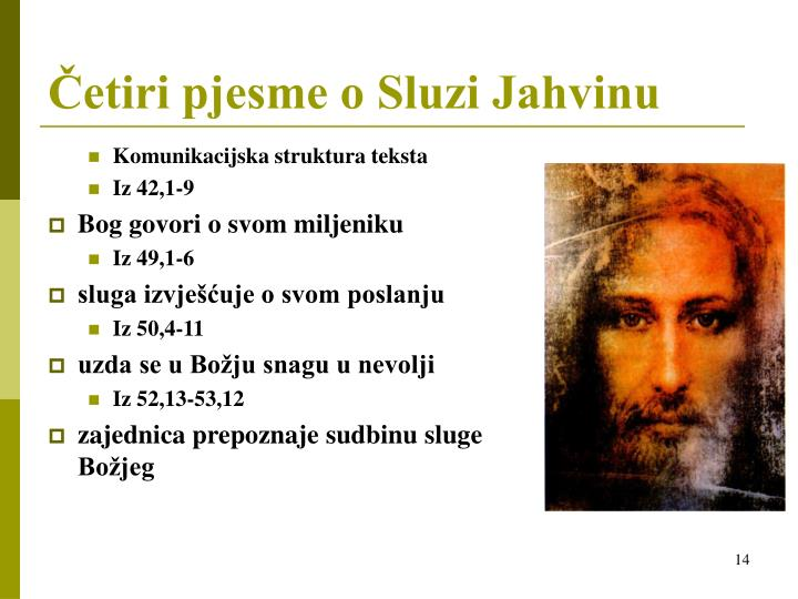 Četiri pjesme o Sluzi Jahvinu