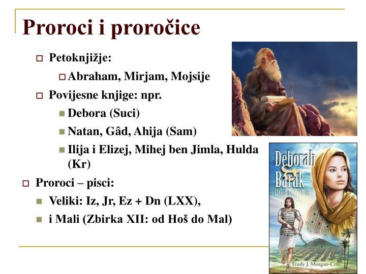 Proroci i proročice