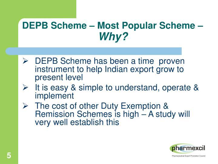DEPB Scheme – Most Popular Scheme –