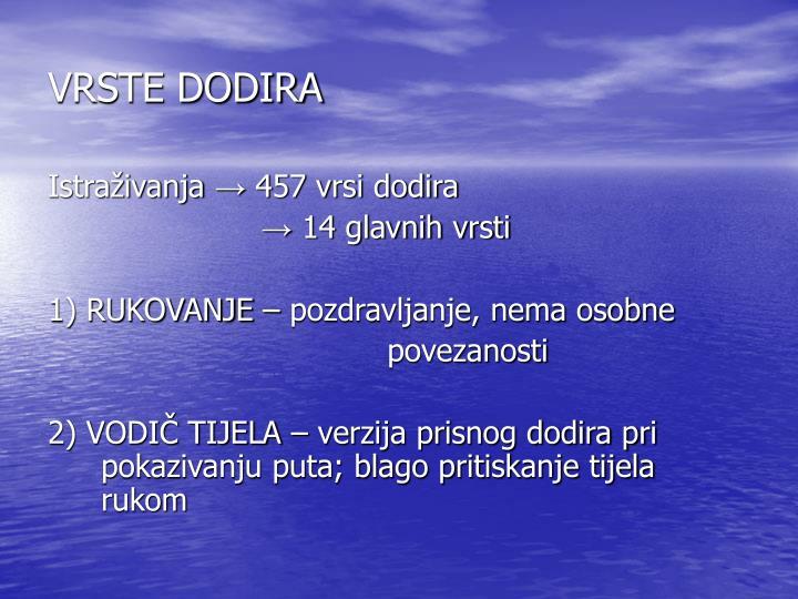 VRSTE DODIRA