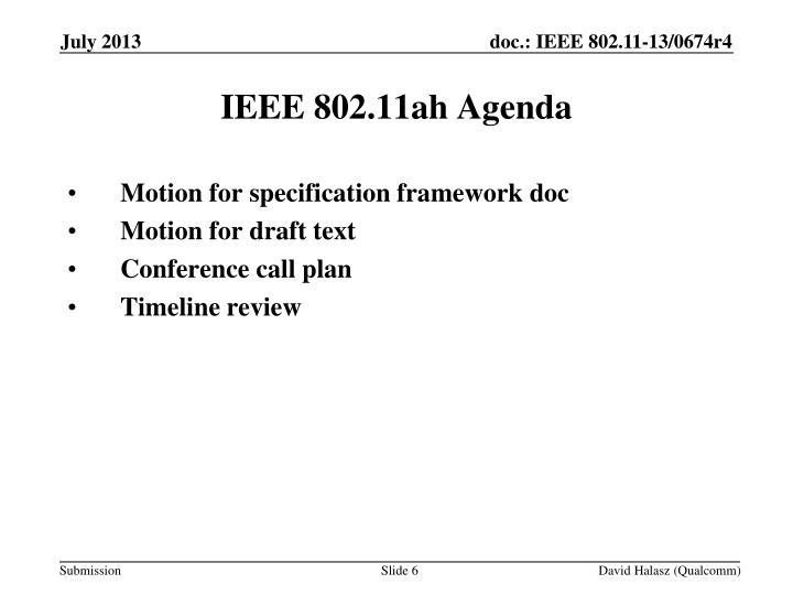 Motion for specification framework doc
