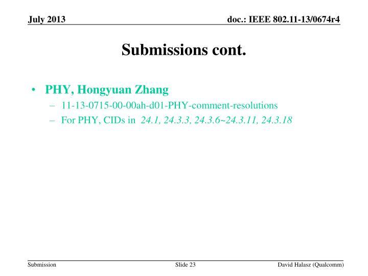 PHY, Hongyuan Zhang