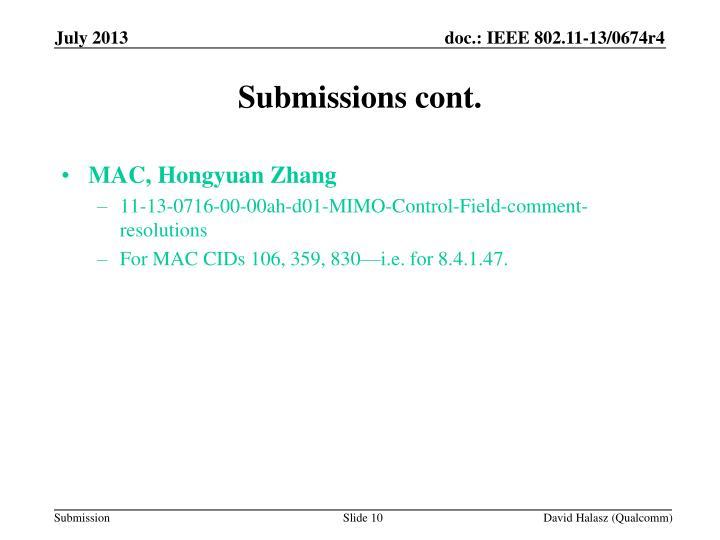 MAC, Hongyuan Zhang