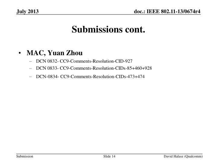 MAC, Yuan Zhou