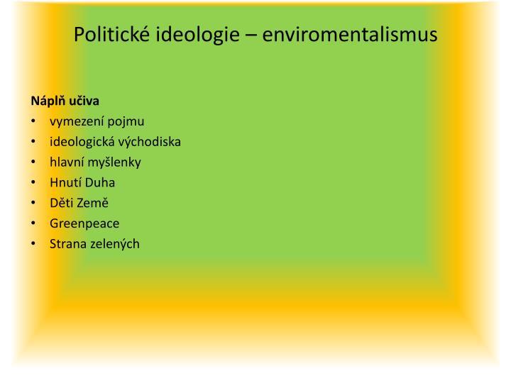 Politické ideologie –