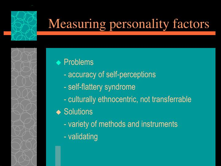 Measuring personality factors