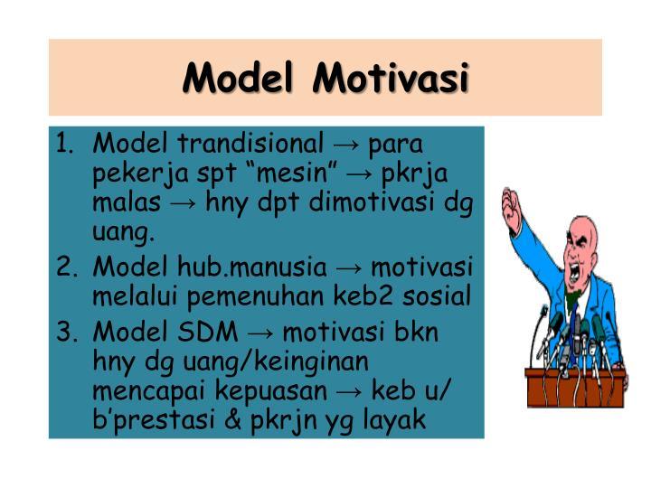 Model Motivasi