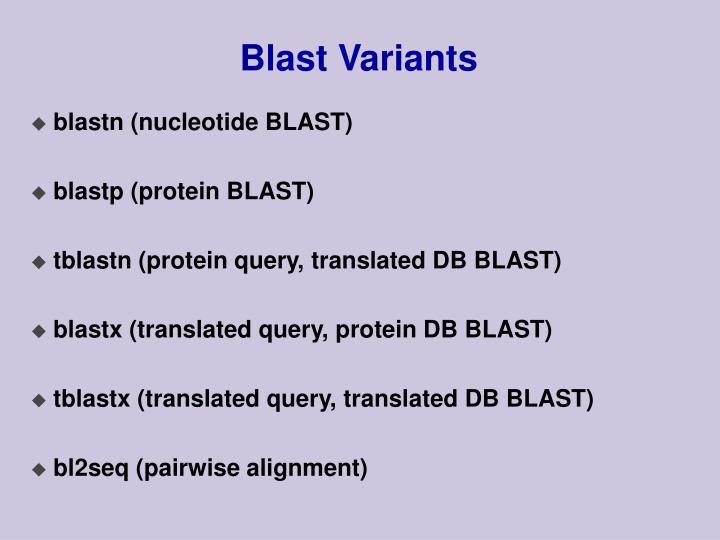 Blast Variants