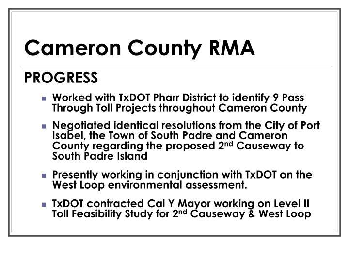 Cameron County RMA