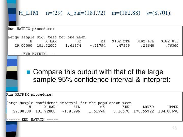 H_L1M     n=(29)   x_bar=(181.72)    m=(