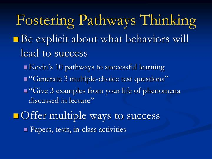 Fostering Pathways Thinking
