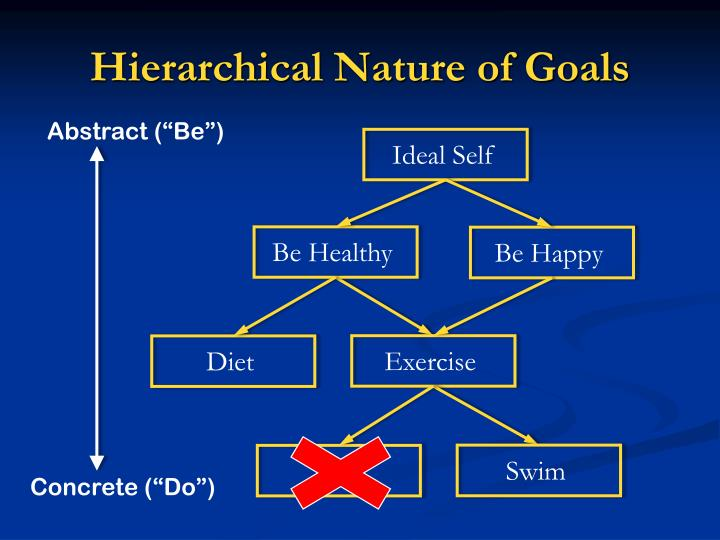 Hierarchical Nature of Goals