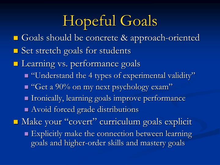 Hopeful Goals