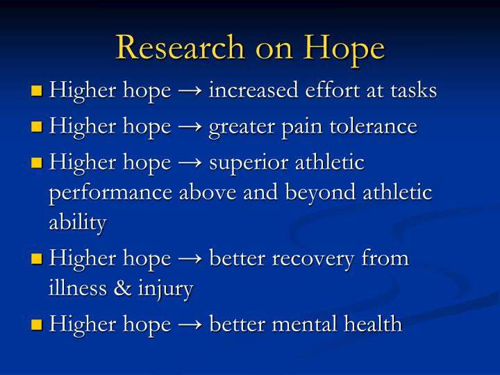 Research on Hope