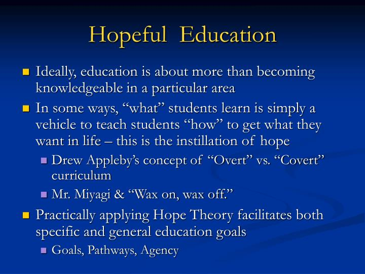 Hopeful  Education