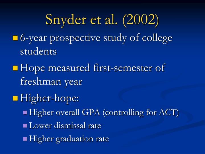 Snyder et al. (2002)