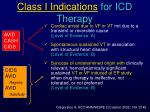 class i indications for icd therapy