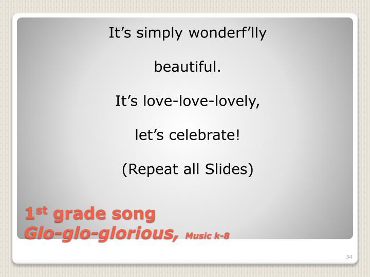 It's simply