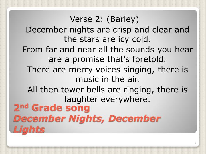 Verse 2: (Barley)