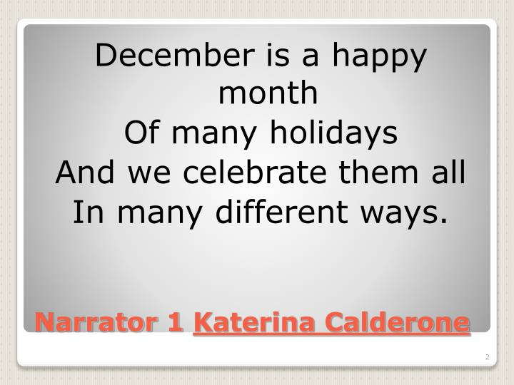 Narrator 1 katerina calderone