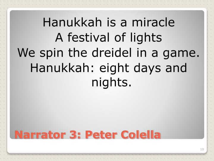 Hanukkah is a miracle